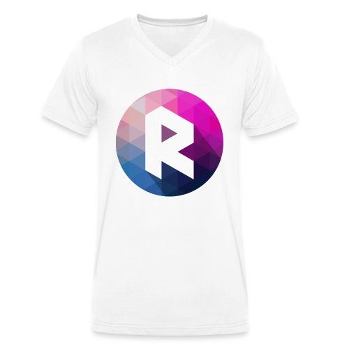 radiant logo - Men's Organic V-Neck T-Shirt by Stanley & Stella