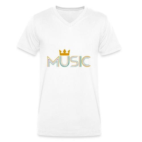 Music Bag - Camiseta ecológica hombre con cuello de pico de Stanley & Stella