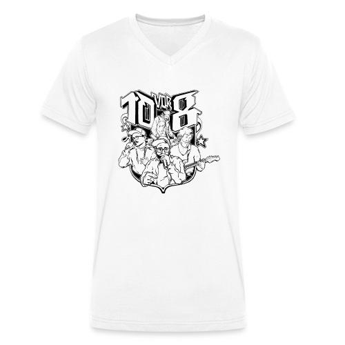 10vor8Logo png - Männer Bio-T-Shirt mit V-Ausschnitt von Stanley & Stella