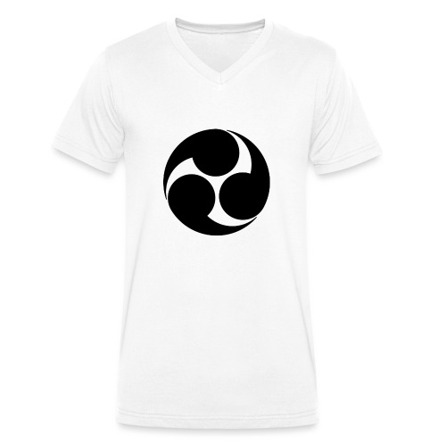 Kobayakawa Mon Japanese clan black - Men's Organic V-Neck T-Shirt by Stanley & Stella