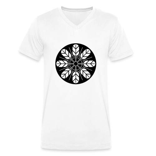 Inoue clan kamon in black - Men's Organic V-Neck T-Shirt by Stanley & Stella