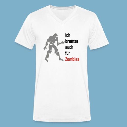 ich bremse auch für Zombies - Männer Bio-T-Shirt mit V-Ausschnitt von Stanley & Stella
