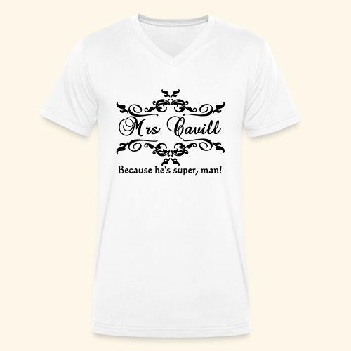 Mrs Cavill - Men's Organic V-Neck T-Shirt by Stanley & Stella