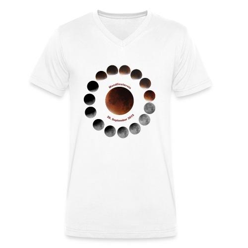 Mondfinsternis 2015 - Männer Bio-T-Shirt mit V-Ausschnitt von Stanley & Stella