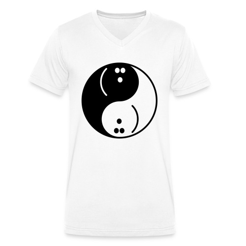 Bowling Yin-Yang - Men's Organic V-Neck T-Shirt by Stanley & Stella