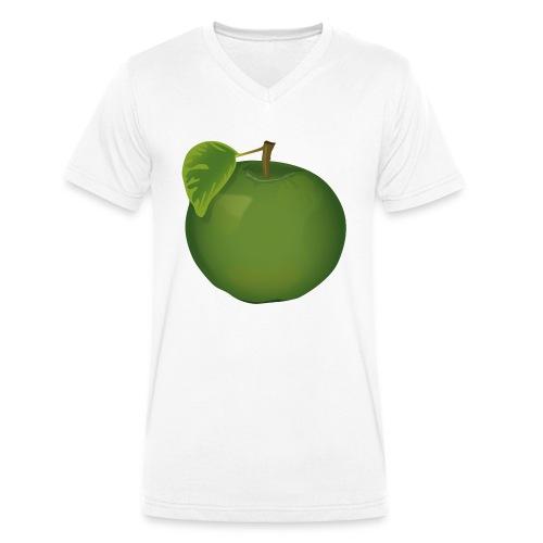 Apfel Pomme Apple - Männer Bio-T-Shirt mit V-Ausschnitt von Stanley & Stella