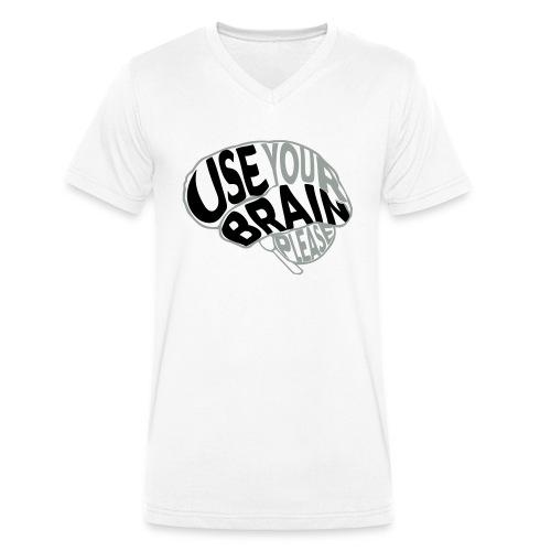 Use your brain - T-shirt ecologica da uomo con scollo a V di Stanley & Stella