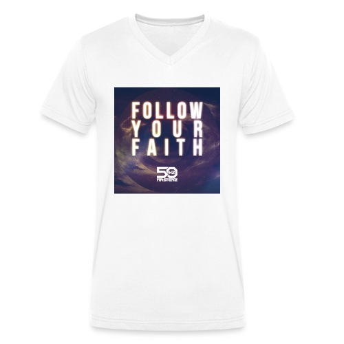 Follow Your Faith 2 - Männer Bio-T-Shirt mit V-Ausschnitt von Stanley & Stella