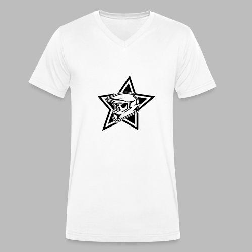 Motocross Helm - Männer Bio-T-Shirt mit V-Ausschnitt von Stanley & Stella