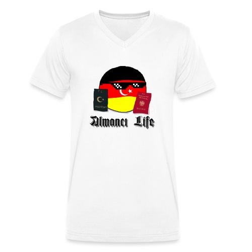 Almanci Life - Männer Bio-T-Shirt mit V-Ausschnitt von Stanley & Stella