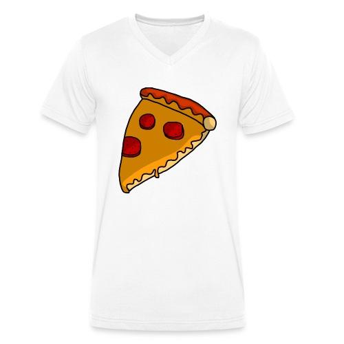 pizza - Økologisk Stanley & Stella T-shirt med V-udskæring til herrer