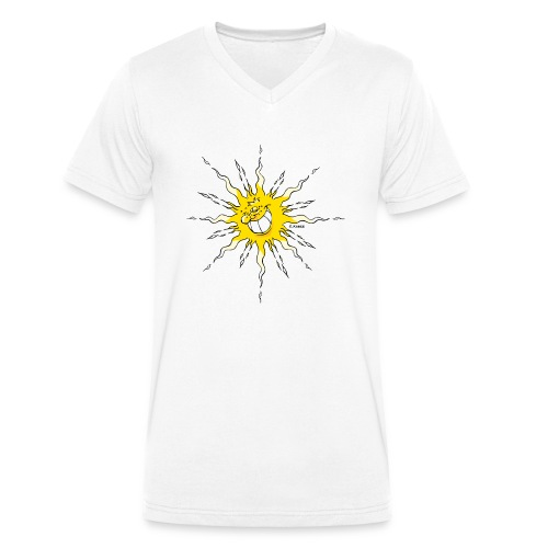 Sonne - Männer Bio-T-Shirt mit V-Ausschnitt von Stanley & Stella