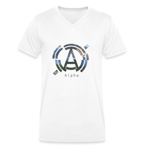 AlphaOfficial Logo T-Shirt - Men's Organic V-Neck T-Shirt by Stanley & Stella