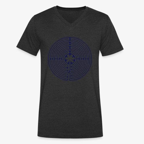 Labyrinth von Chartres - Männer Bio-T-Shirt mit V-Ausschnitt von Stanley & Stella