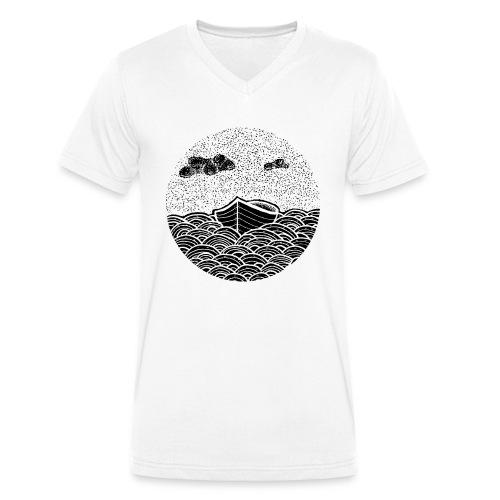 Kreis Boot Wasser - Männer Bio-T-Shirt mit V-Ausschnitt von Stanley & Stella