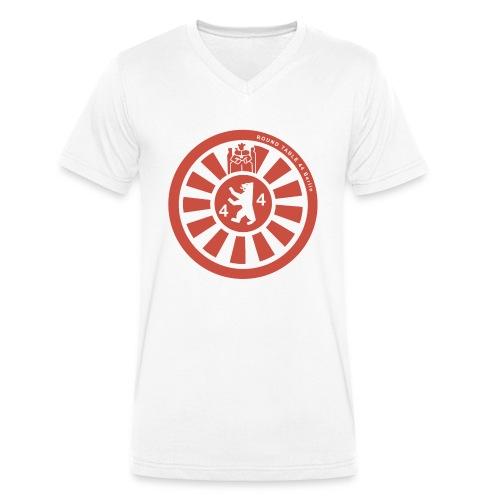 Logo RT44 Berlin 2016 pure red 4000px png - Männer Bio-T-Shirt mit V-Ausschnitt von Stanley & Stella