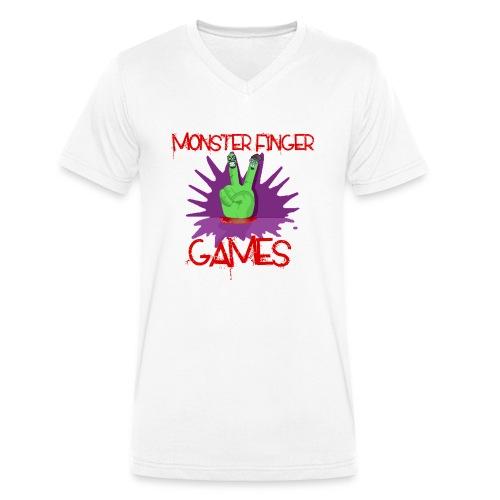 Monster Finger Games Logo - Men's Organic V-Neck T-Shirt by Stanley & Stella