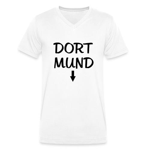 Dortmund Witzig Weiß - Männer Bio-T-Shirt mit V-Ausschnitt von Stanley & Stella