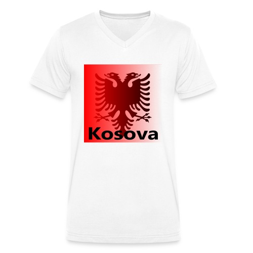 Kosova Shqiptar Albaner Kosovo Albanien Shqipëri - Männer Bio-T-Shirt mit V-Ausschnitt von Stanley & Stella