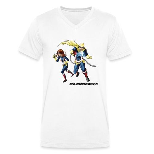 1+1=2Eine gute Connection - Männer Bio-T-Shirt mit V-Ausschnitt von Stanley & Stella