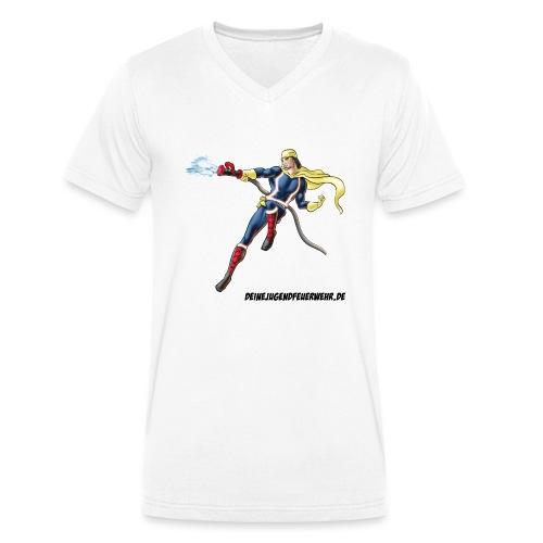 Captain Firefighter - Männer Bio-T-Shirt mit V-Ausschnitt von Stanley & Stella