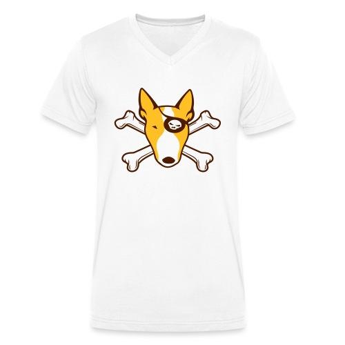 PIRATE Bullterrier v2 3c - Männer Bio-T-Shirt mit V-Ausschnitt von Stanley & Stella