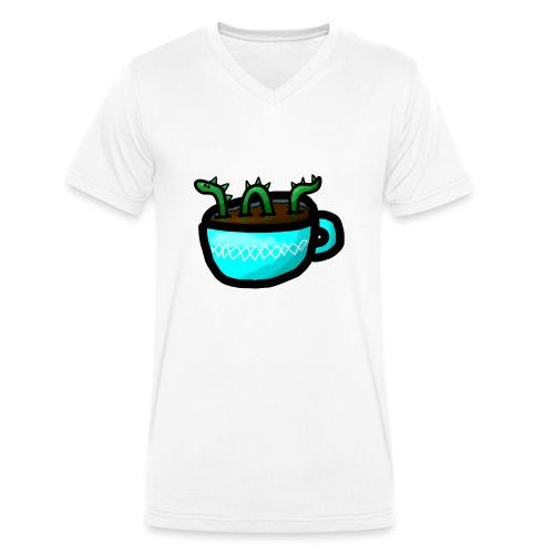 Loch Ness im Kaffee - Männer Bio-T-Shirt mit V-Ausschnitt von Stanley & Stella