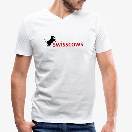 Swisscows - Männer Bio-T-Shirt mit V-Ausschnitt von Stanley & Stella