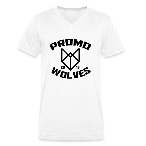 Big Promowolves longsleev - Mannen bio T-shirt met V-hals van Stanley & Stella