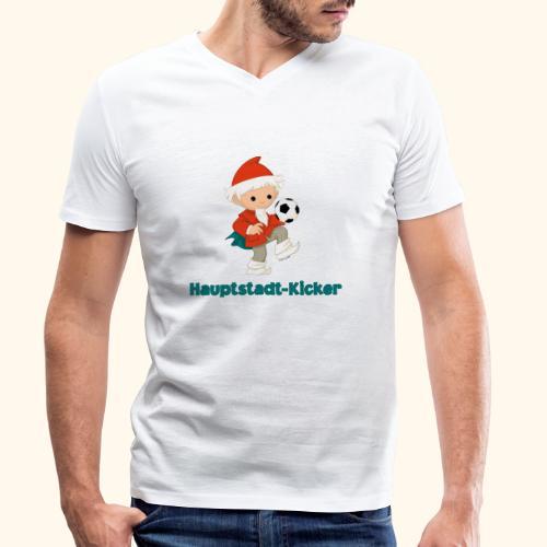 Sandmännchen Hauptstadt-Kicker - Männer Bio-T-Shirt mit V-Ausschnitt von Stanley & Stella