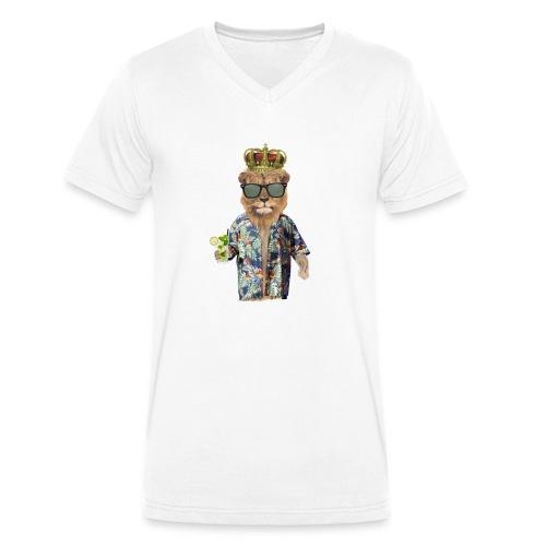 Urlaubslöwe - Männer Bio-T-Shirt mit V-Ausschnitt von Stanley & Stella