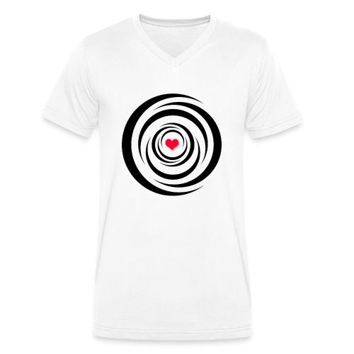 Herz Wirbel - Männer Bio-T-Shirt mit V-Ausschnitt von Stanley & Stella