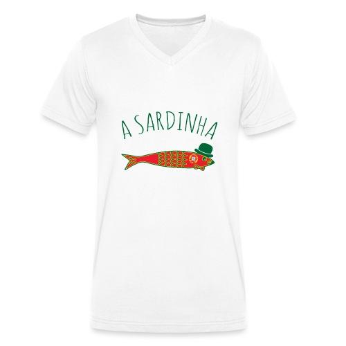 A Sardinha - Bandeira - T-shirt bio col V Stanley & Stella Homme