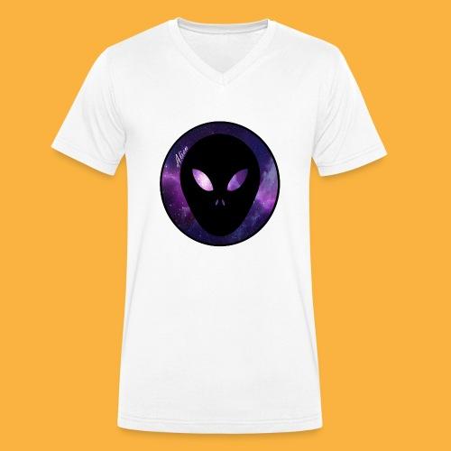 alienblack - Männer Bio-T-Shirt mit V-Ausschnitt von Stanley & Stella