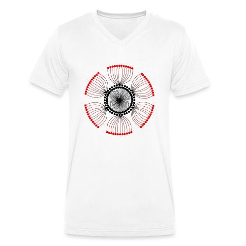 Red Poppy Seeds Mandala - Men's Organic V-Neck T-Shirt by Stanley & Stella