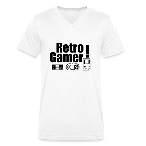 Retro Gamer! - Men's Organic V-Neck T-Shirt by Stanley & Stella