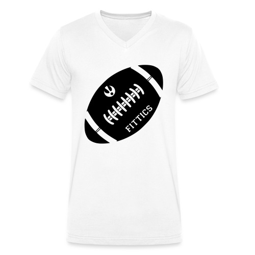 Fittics American Football - Men's Organic V-Neck T-Shirt by Stanley & Stella