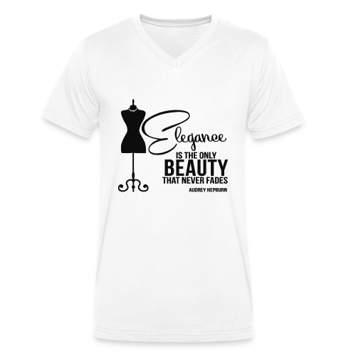 Elegance Is The Only Beauty that never fades - T-shirt ecologica da uomo con scollo a V di Stanley & Stella