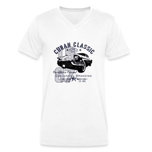 Cuban Classic | Cadillac - Männer Bio-T-Shirt mit V-Ausschnitt von Stanley & Stella