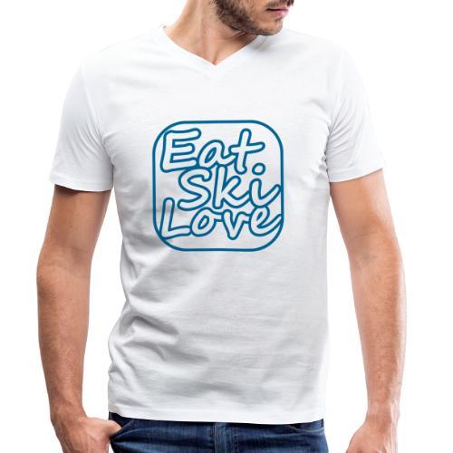 eat ski love - Mannen bio T-shirt met V-hals van Stanley & Stella