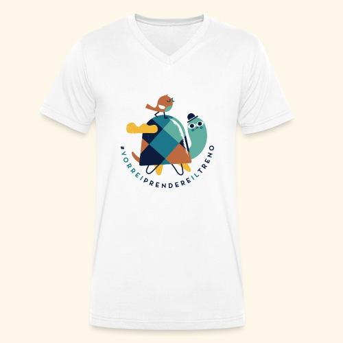 Tartaruga e uccellino - T-shirt ecologica da uomo con scollo a V di Stanley & Stella