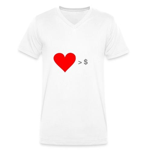 Social Business Shirt - Männer Bio-T-Shirt mit V-Ausschnitt von Stanley & Stella