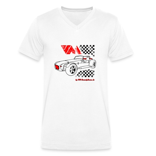 77 vm schwarz - Männer Bio-T-Shirt mit V-Ausschnitt von Stanley & Stella