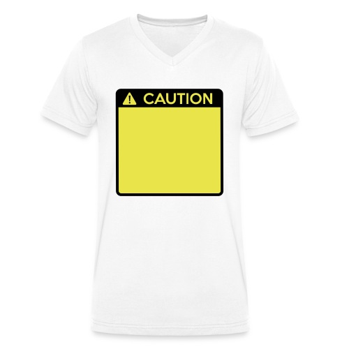 Caution Sign (2 colour) - Men's Organic V-Neck T-Shirt by Stanley & Stella