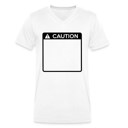 Caution Sign (1 colour) - Men's Organic V-Neck T-Shirt by Stanley & Stella