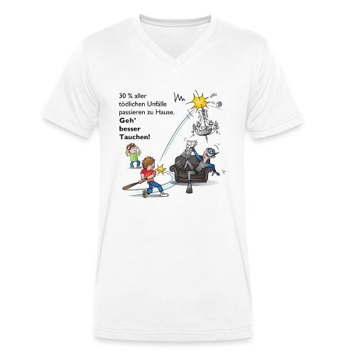 Unfall-Taucher Baseball - Männer Bio-T-Shirt mit V-Ausschnitt von Stanley & Stella