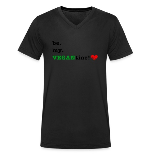 VEGANtine Green - Men's Organic V-Neck T-Shirt by Stanley & Stella