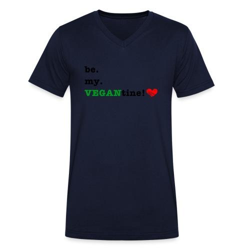 VEGANtine Green - Men's Organic V-Neck T-Shirt by Stanley & Stella