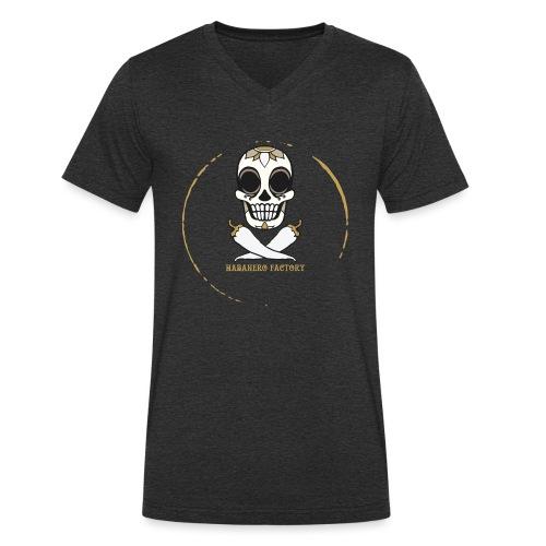 Logo HABANERO FACTORY - T-shirt ecologica da uomo con scollo a V di Stanley & Stella