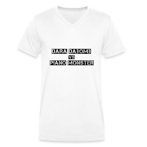 Dara DaBomb VS Piano Monster Range - Men's Organic V-Neck T-Shirt by Stanley & Stella
